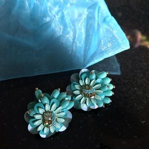 Baublebar Brand Beautiful Turquoise Floral Studs